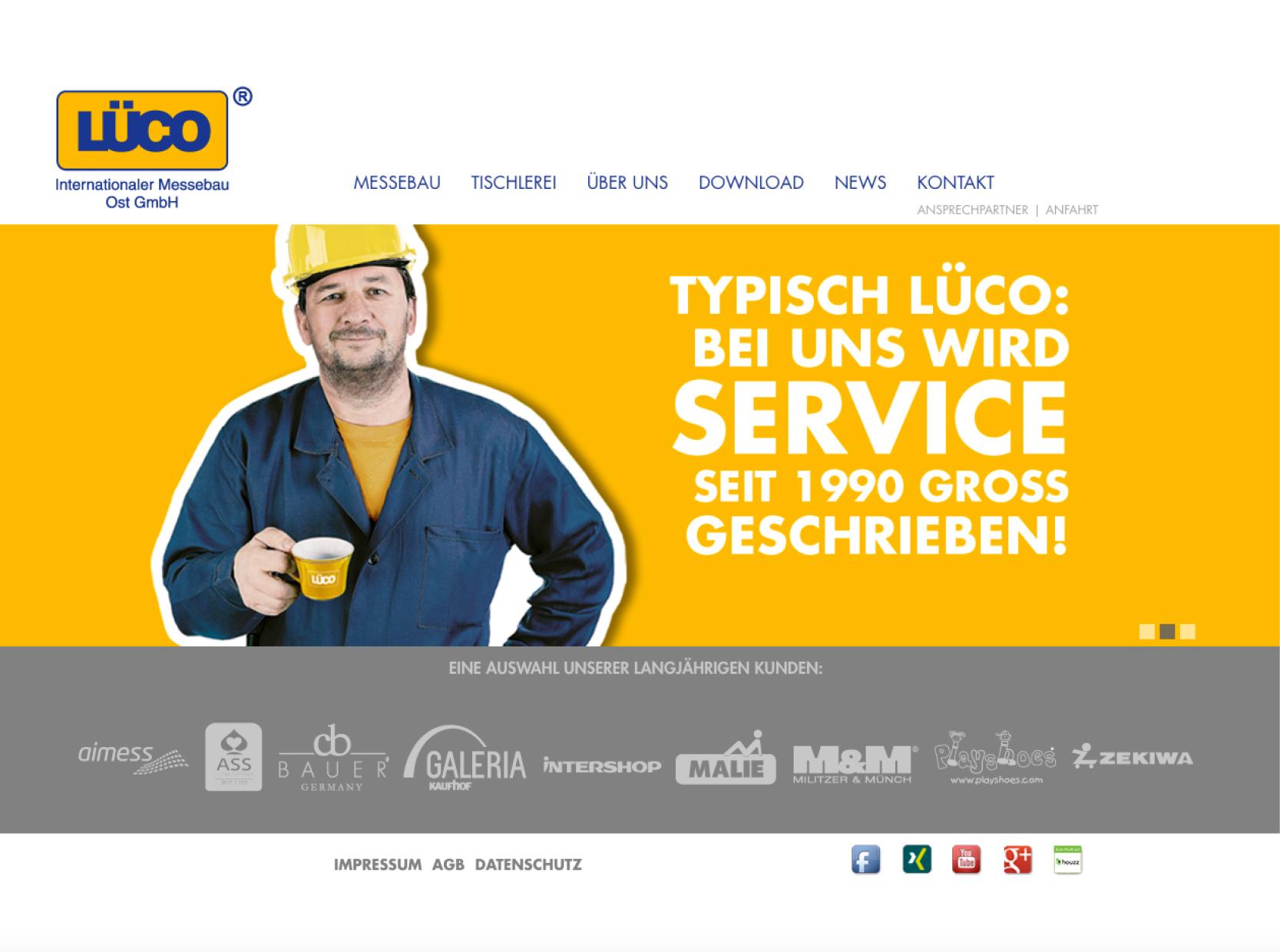 Website Redesign – Lüco Messebau Ost