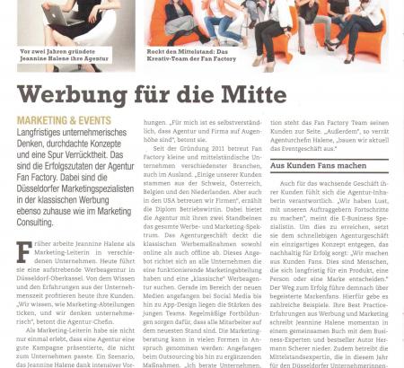 Artikel im Wirtschaftsblatt